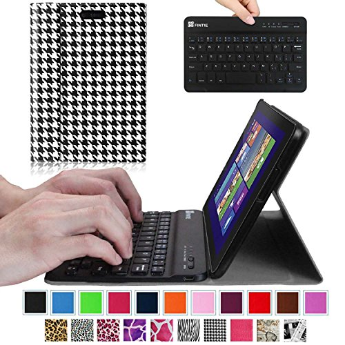 Fintie Blade X1 Dell Venue 8 Pro (Windows 8.1) Keyboard Case – Ultra Slim Shell Stand Cover with Magnetically Detachable Wireless Bluetooth Keyboard (Only Fit DELL Venue 8 Pro Windows 8.1 tablet) – Houndstooth Black, Best Gadgets