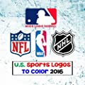 U.S. Sports Logos To Color 2016: All The Major US Sports Team Logos - MLB, NBA, NFL & NHL - Unique coloring book for kids that would make an excellent birthday present / gift.
