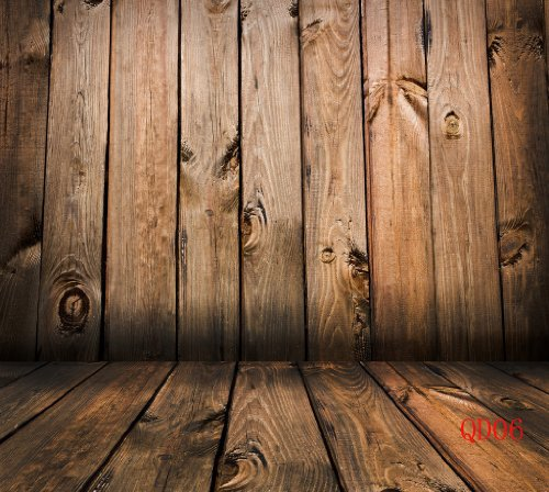Wooden Wall&Floor 8X8Ft Pictorial Cloth Photography Backdrop Customized Qd06
