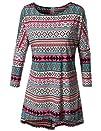 SJSP Women Boat neck Long Sleeve Stripes Tunics Top include