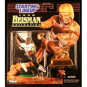 RASHAAN SALAAM / UNIVERSITY OF COLORADO BUFFALOES * 1998 NCAA College Football HEISMAN COLLECTION Starting Lineup Action Figure, Football Helmet & Miniature 1994 Heisman Memorial Trophy