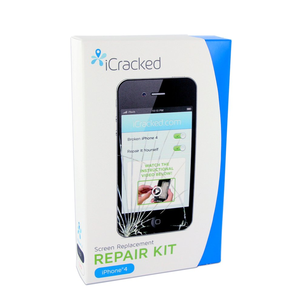 iCracked iPhone 4 CDMA (Verizon / Sprint) Premium Screen Replacement & Repair Kit - Black at Sears.com