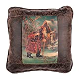 Big House Home Collection A Happy Christmas Home Accent Pillows, 16 by 16-Inch