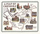 Cheshire - 28 count evenweave cross stitch map