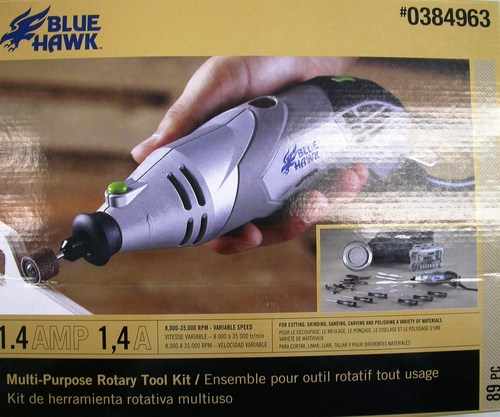 Blue Hawk 89 Piece Multi-Purpose Rotary Tool Kit
