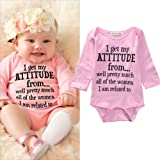Newborn Infant Baby Girls Cotton Bodysuit Romper Jumpsuit Clothes Outfits (0-3Months)