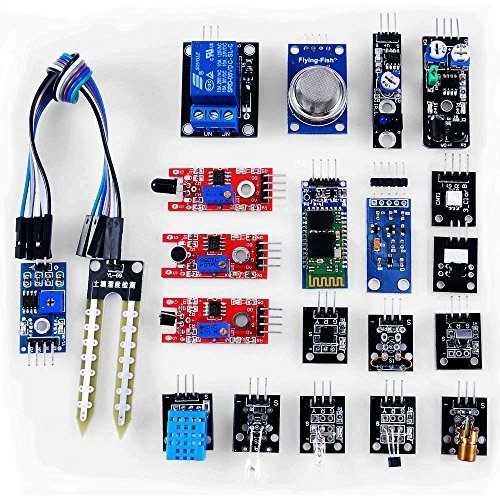 OSOYOO Sensor Kit 20 Modules for Arduino UNO R3 Mega2560 Mega328 Nano Raspberry Pi Learning Package (Arduino Sensors compare prices)