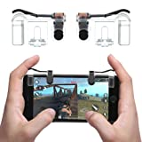 Mobile Game Controller(Newest Version),Teepao Sensitive Gaming Induction Shoot And Aim Buttons For PUBG/Knives Out/Rules of Survival/Fortnite/Survivor/Royale,Shooting Game Auxiliary Tool (Transparent) (Color: Transparent)