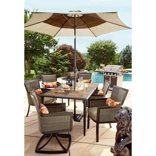 7 Piece Patio Furniture Dining Set. This High