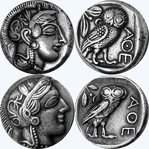 2-versions-of-athena-and-her-owl-greek-goddess-of-wisdom-mark-of-athena-12-s-and-77-s-silver-plate