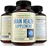 Nootropics Brain Function Booster - Memory, Mind & Focus Enhancer - Promotes Concentration, Clarity, Cognition & Mental Performance. Best Supplement with Ginkgo Biloba, Omega 3, DMAE, Vitamins & More