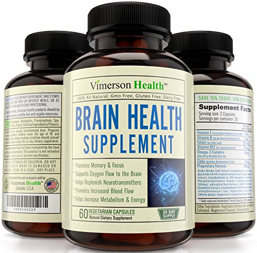 Nootropics Wisdom Function Booster - Memory, Mind & Focus Enhancer - Promotes Concentration, Definition, Cognition & Mental Performance. Best Supplement with Ginkgo Biloba, Omega 3, DMAE, Vitamins & More