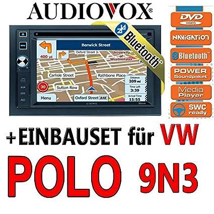 Volkswagen polo 9N3 audiovox - 6020 vXE nAV navigationsradio uE autoradio navi dVD avec écran tFT bluetooth