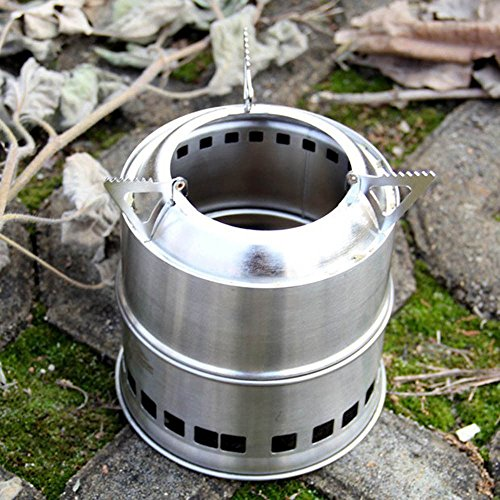 Outdoor Camping Stove Cooking Supplies Equipment Gear Solo Wood Burning BBQ US