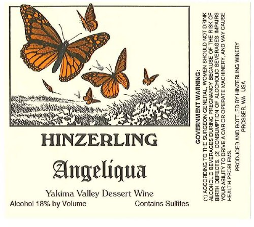 "Nv Hinzerling Winery ""Angeliqua"" Dessert Wine 375 Ml"