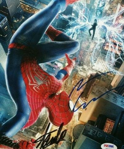 Amazing Spiderman Andrew Garfield Stan Lee Signed Autographed 8X10 Pho