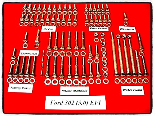 Ford Engine Bolt Kit Stainless Hex Steel Allen 224 Pieces Set 1986-93 Ford 302 5.0L EFI Auto Parts - House Deals (302 Intake Manifold Efi compare prices)