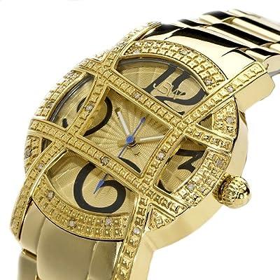 "JBW Women's JB-6214-A ""Olympia"" Gold-Tone Designer Dial Diamond Watch"
