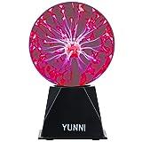 YUNNI Plasma Ball Light 6 Inch Plasma Lamp, Lightning Ball Touch & Sound Sensitive, Glass Magic Ball Lamp Nebula Sphere Globe Novelty Toy for Decorations/Kids/Bedroom/Gifts (AC Powered, Plug-in)