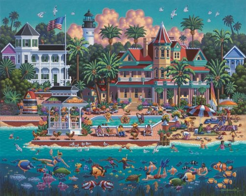Jigsaw Puzzle - Key West 500 Pc By Dowdle Folk Art