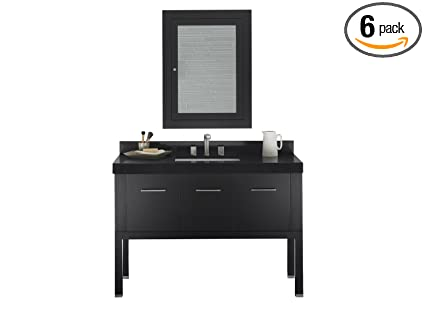 "Ronbow 036848-B02_Kit_3 Calabria Bathroom Vanity Set, 48"", Black"