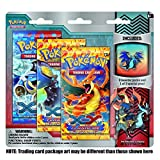Pokemon Flashfire XY TCG Booster - Three (3) Pack with Dragon Mega Charizard Pin