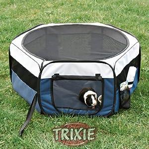 Trixie 64054 puppy run nylon 130 cm 55 cm blue green for Diy playpen for guinea pigs