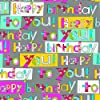 The Gift Wrap Company Deluxe Quality Gift Wrap Roll, Busy Birthday Type