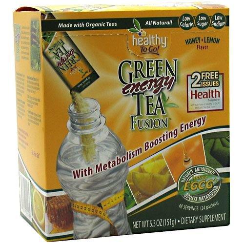To Go Brands Honey Lemon Green Tea Energy Fusion - 24 Packets Per Pack -- 3 Packs Per Case.
