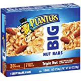 Planters Big Nut Bars, Roasted Triple Nut, 5-Count Bars  (Pack of 10) ~ Planters