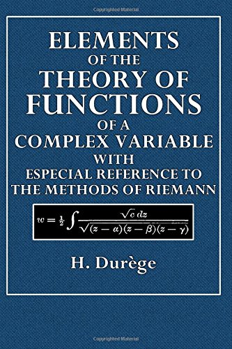 Elements of the Theory of Functions of a Complex Variable
