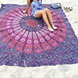 Webcajk Rechteck Rund Tapestry Chiffon Tischdecke Indian Mandala Strandtuch Picknick