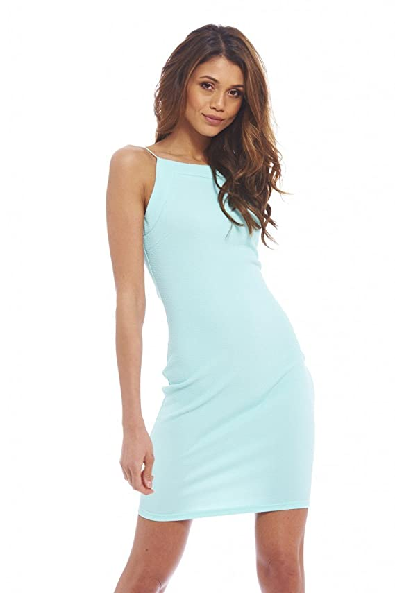 AX Paris Women's Bodycon Thin Strap Plain Dress