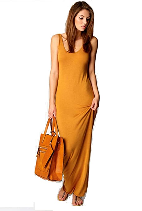 PGXT Women's Tank Top Long Maxi Dress Ladies Celebrity Party Casual Dresses Vestidos