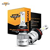Auxbeam LED Headlight Bulbs F-S2 Series 9007 LED Headlight Bulb HB5 Bridgelux COB LED headlight conversion kit with 2 Pcs of 9007 Bulbs 72W 8000lm Hi-Lo Beam - 1 Year Warranty