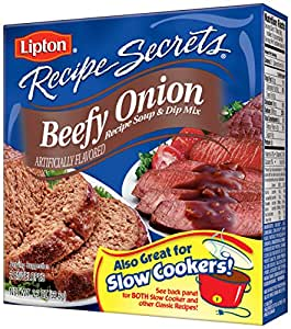 Lipton Recipe Secrets Recipe Soup & Dip Mix, Beefy Onion 2.2 oz (Pack of 12)