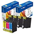 10 Epson 252XL Compatible Ink Cartridges T252XL; 4 Black T2521, 2 Cyan T2522 , 2 MagentaT2523, 2 Yellow T2524 for use in Epson WorkForce Printer Models: WF-3620 , WF-3640 , WF-7610 , WF-7620 . PrintOxe (TM) Exclusively sold by PanContinent