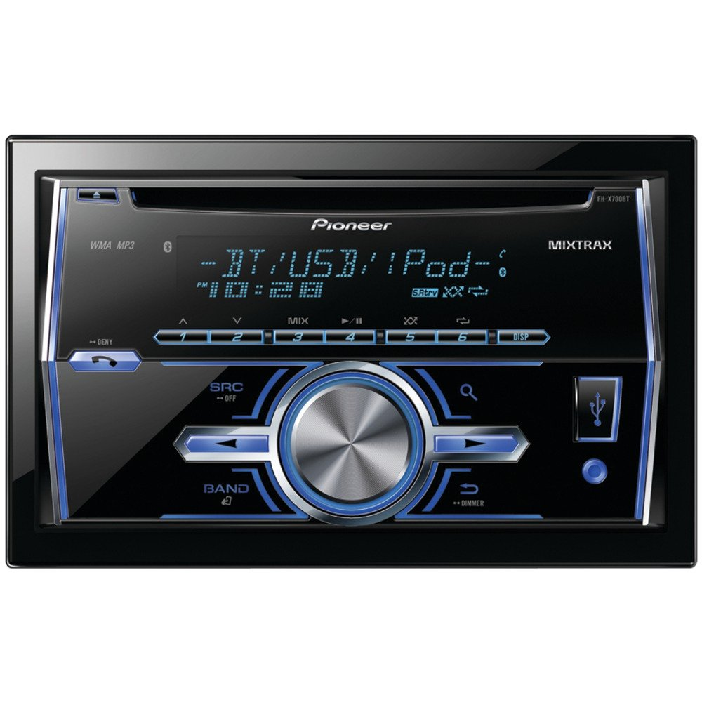 Pioneer FH-X700BT In-Dash Double DIN CD/MP3/USB Car Stereo Receiver w/ Bluetooth, $109.99