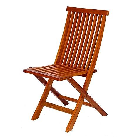HWF Tumbonas Silla plegable al aire libre de madera maciza Patio de ocio Balcón Muebles de jardín plegable ( Color : 2 Pieces )