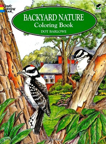 backyard nature adult coloring book for grownups dover