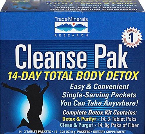 Cleanse Pak 14-Day Total Body Detox Kit Trace Minerals 1 Kit