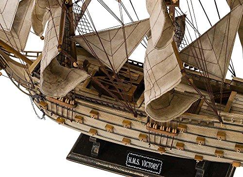"H.M.S Victory model ship - flagship British Royal Navy - wood - 2'10"" (86cm)"