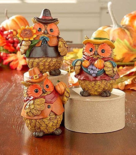 Sets of 3 Harvest Owls