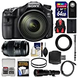 Sony Alpha A77 II Wi-Fi Digital SLR Camera & 16-50mm with 70-300mm & 500mm Lenses + 64GB Card + Backpack + Battery + Monopod + Kit