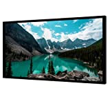 Projector Screen Fixed Frame, 120 Inch 4K Ultra HD Indoor Outdoor Portable Home Theater Movie Screen at 1.1 Gain, Diagonal 16:9, Anti-Crease White PVC Material (Color: White, Tamaño: 120INCH)