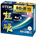 TDK Blu-ray BD-R Disk Super Hard Coating Surface 50GB (DL) 6x Speed 10 Pack (Japan Import)
