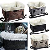 Vktech Foldable Pet Dog Cat Car Booster Seat Bag Carrier Tote Travel Bed (Silver Grey)