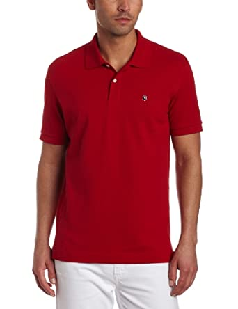 Victorinox Men's Short Sleeve Stretch Pique Tailored Fit Polo, Red, Small