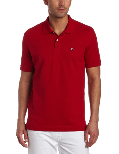 Victorinox Men's Short Sleeve Stretch Pique Tailored Fit Polo