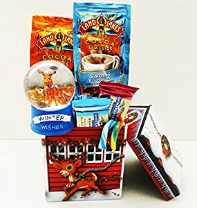 Unlocking Greatness You Are LOVED Christmas Holiday Gift Baskets (Snow Globe House)